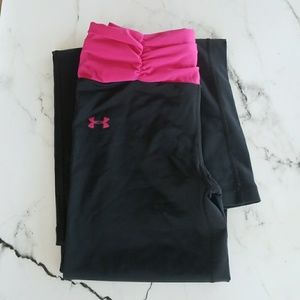 Under Armour Pink Waist Compression Pants